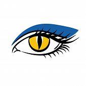 Eye On White Background. Eyes Art, Eye Icon, Human Eye, Cartoon Eyes. The Eye Logo. Eyes Art. Makeup poster