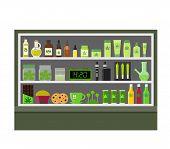 Marijuana Store. Marijuana Equipment And Accessories For Smoking, Storing Medical Cannabis. Cannabis poster