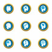 Smart Choice Icons Set. Flat Set Of 9 Smart Choice Icons For Web Isolated On White Background poster