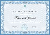 Certificate Template. Diploma Of Modern Design Or Gift Certificate. Vector Illustration. poster