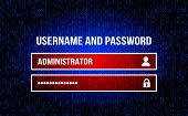 Username Field - Username And Password In The Internet Browser, The Background Of The Stream Of Bina poster
