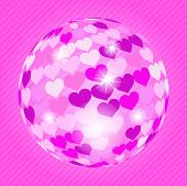 Discoball With Hearts poster