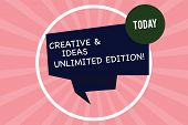Handwriting Text Writing Creative And Ideas Unlimited Edition. Concept Meaning Bright Thinking Limit poster