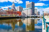 Providence, Rhode Island, USA downtown skyline on the river.  poster