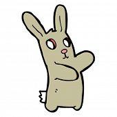 picture of rabbit hole  - spooky rabbit cartoon - JPG