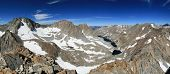 stock photo of darwin  - Panorama of the Darwin Basin in the Sierra Nevada mountains including Mount Darwin Mount Mendel and lamarck peak - JPG