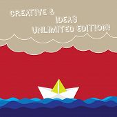 Word Writing Text Creative And Ideas Unlimited Edition. Business Concept For Bright Thinking Limitle poster