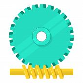Helical Gear Icon. Cartoon Illustration Of Helical Gear Icon For Web Isolated On White Background poster