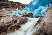 Nigardsbreen Glacier terminal face, Jostedalsbreen National Park, Sogn og Fjordane, Norway, Scandina poster