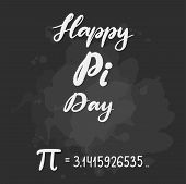 Vector Illustration For Happy Pi Day. Celebrate Pi Day Calligraphy. Mathematical Constant. March 14t poster