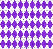 Argyle Plaid. Proton Purple Argyle. Scottish Pattern In White And Purple Rhombuses. Scottish Cage. T poster
