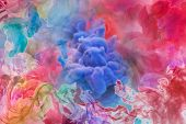 Motion Color Drop In Water, Ink Swirling In , Colorful Ink Abstraction.fancy Dream Cloud Of Ink Unde poster