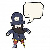 stock photo of peg-leg  - peg leg pirate captain cartoon - JPG