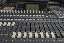 picture of recording studio  - sound control room in a production company in Shanghai - JPG
