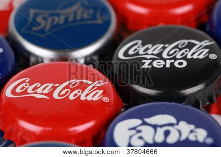 Bottle Caps Of Coca-cola Products