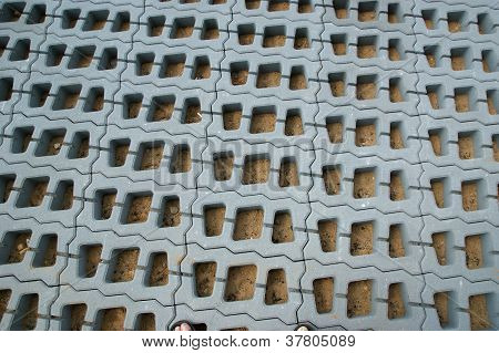 Permeable Pavers (lawn Grid) Of Reinforced Concrete Structures