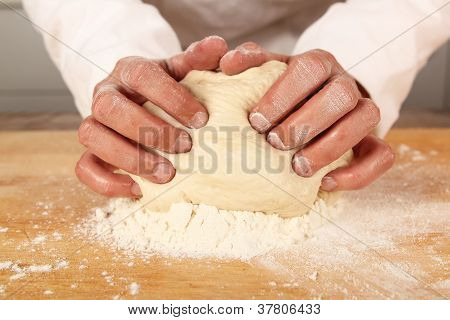 Chef Kneading Dough