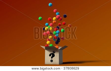 Gumballs In A Mysterious Box