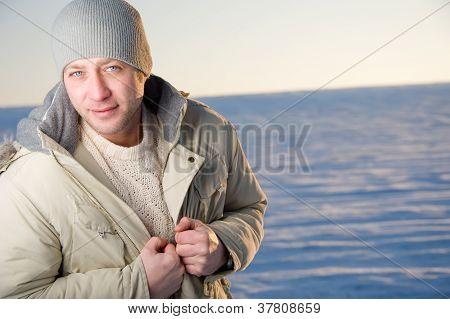 Winter Male Portrait.