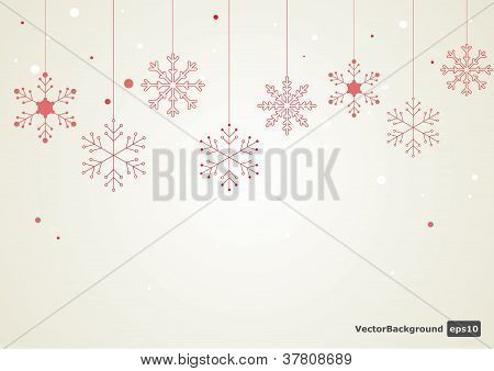 Vector snowflake background.