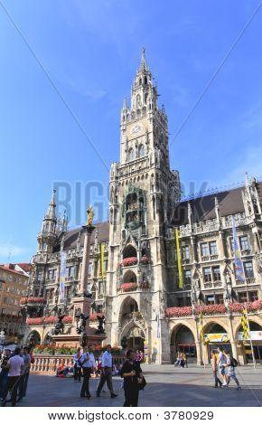 Munich -Sept 1, 2008: Tourists Wondering Around
