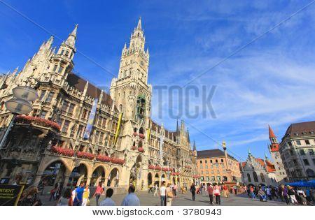 Munich -Sept 1, 2008: Tourists Wandering Around