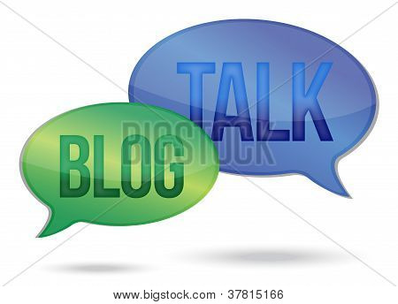 Talking And Blogging Messages Illustration Design