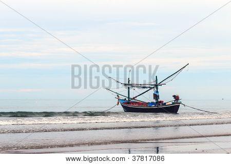 Fishing Boat On The Shore.