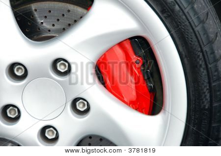 Car Wheel And Brakes