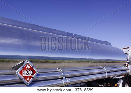 Silver semi-trailer truck