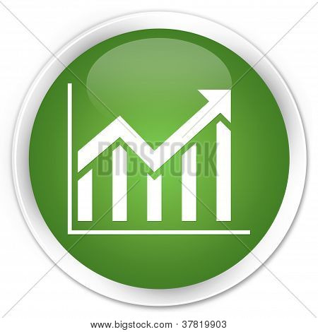 Statistics Icon Green Button