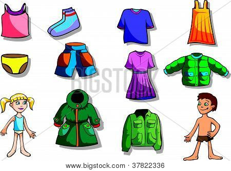 Set of children clothes
