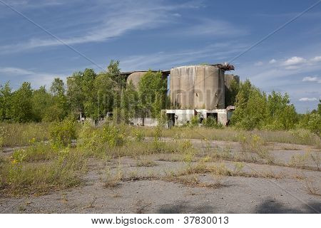 Abandoned Industrial Concrete Silos