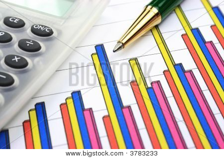 Business Chart Calculator And Pen