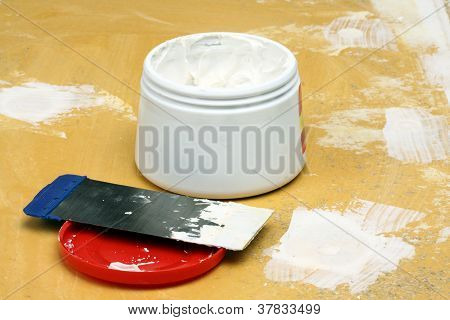 Putty Knife With  Paste