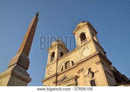 Church Trinita dei Monti in Rome, Italy