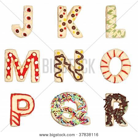 Letters J To R From Decorated Cookies