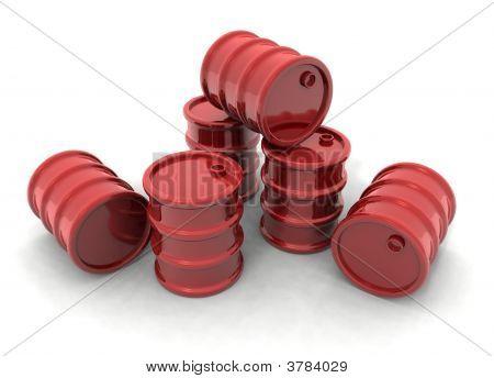 Barriles rojos