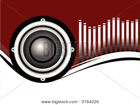 Red Musical Speakers Background