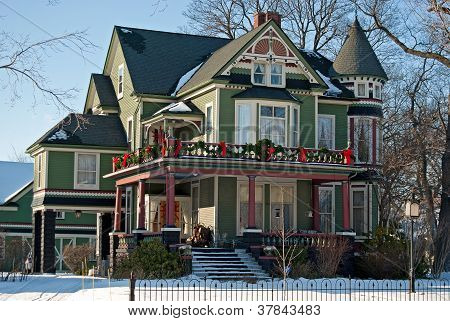 Victorian Christmas house