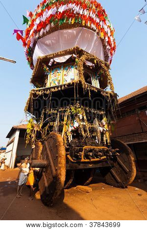 Low Angle Large Ratha Chariot Gokarna Full