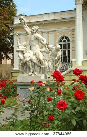 Sculptural Group Laokoon In Front Of Archaeological Museum ,odessa,ukraine