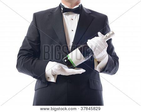 Tuxedo Presenting Champagne