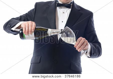 Tuxedo Pouring Champagne