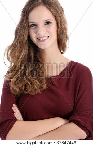 Beautiful Smiling Teenage Girl