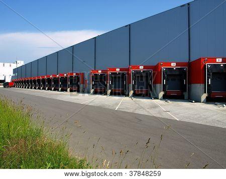 red loading docks