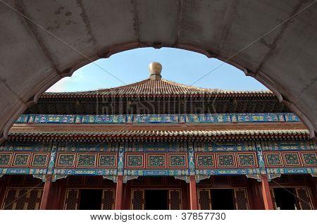 Temple architecture in Beihai Park, Beijing, China
