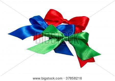Festive Bows Made ??of Ribbon