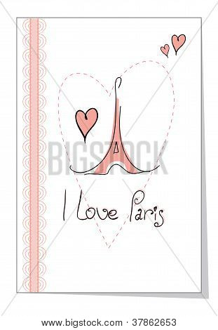 vector illustration I love paris