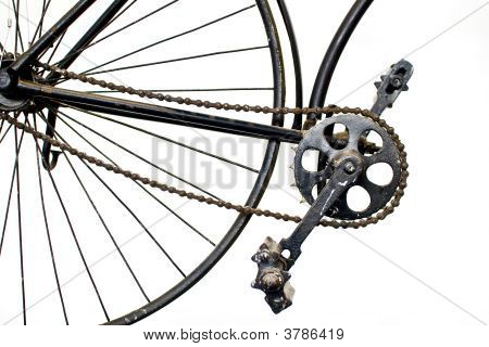 Ancient Bicycle Parts